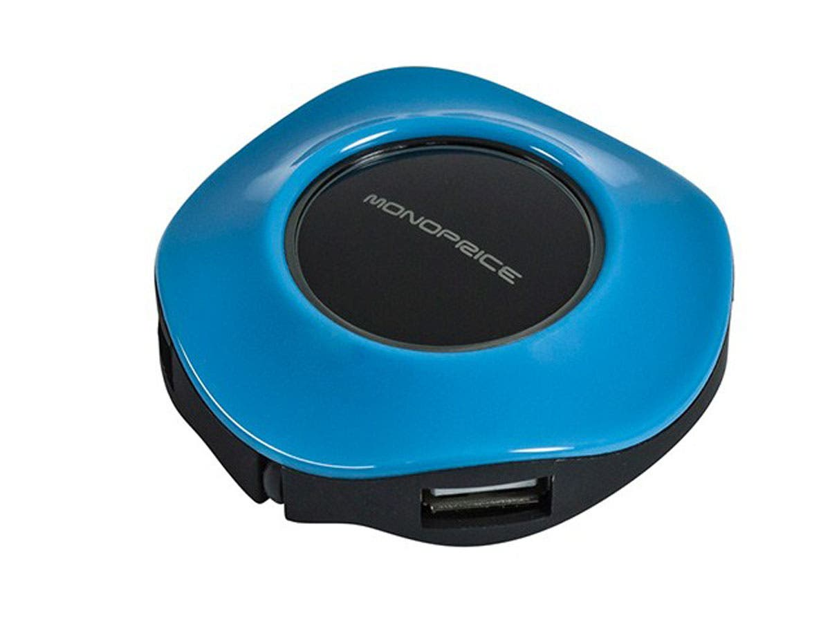 Large Product Image for USB 2.0 Mini Travel Hub - Blue
