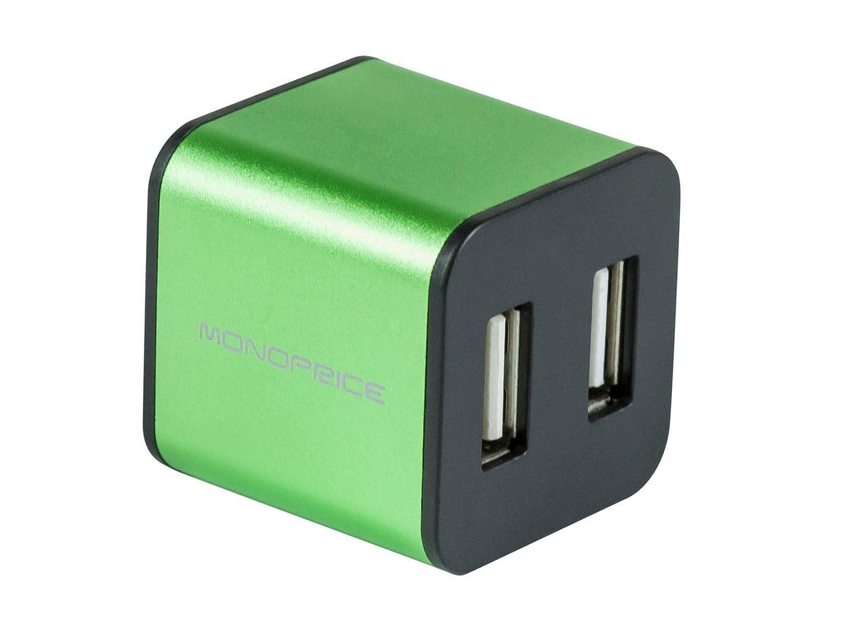 Large Product Image for USB 2.0 4-Port Cube - Green