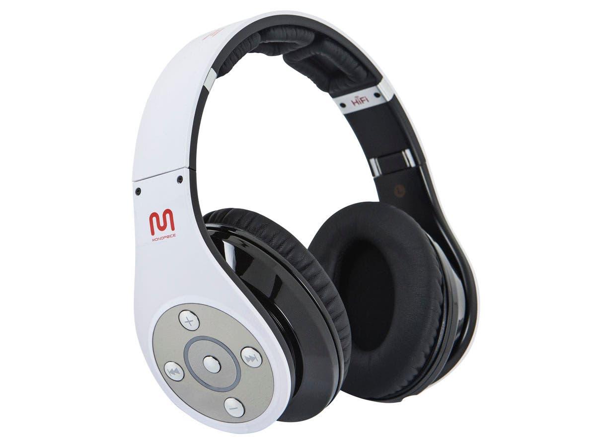 premium bluetooth hi fi over the ear headphones white. Black Bedroom Furniture Sets. Home Design Ideas
