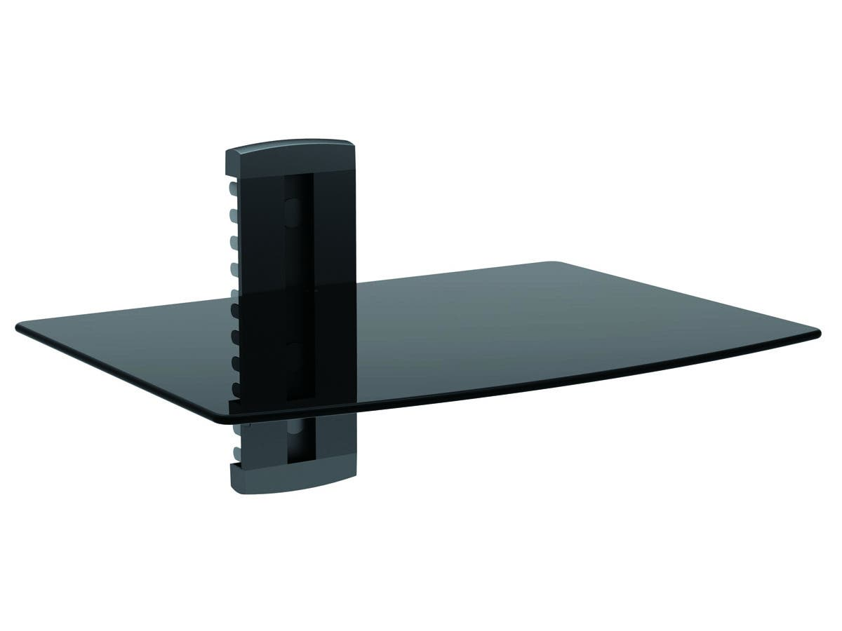 single shelf wall mount for tv components ul certified. Black Bedroom Furniture Sets. Home Design Ideas