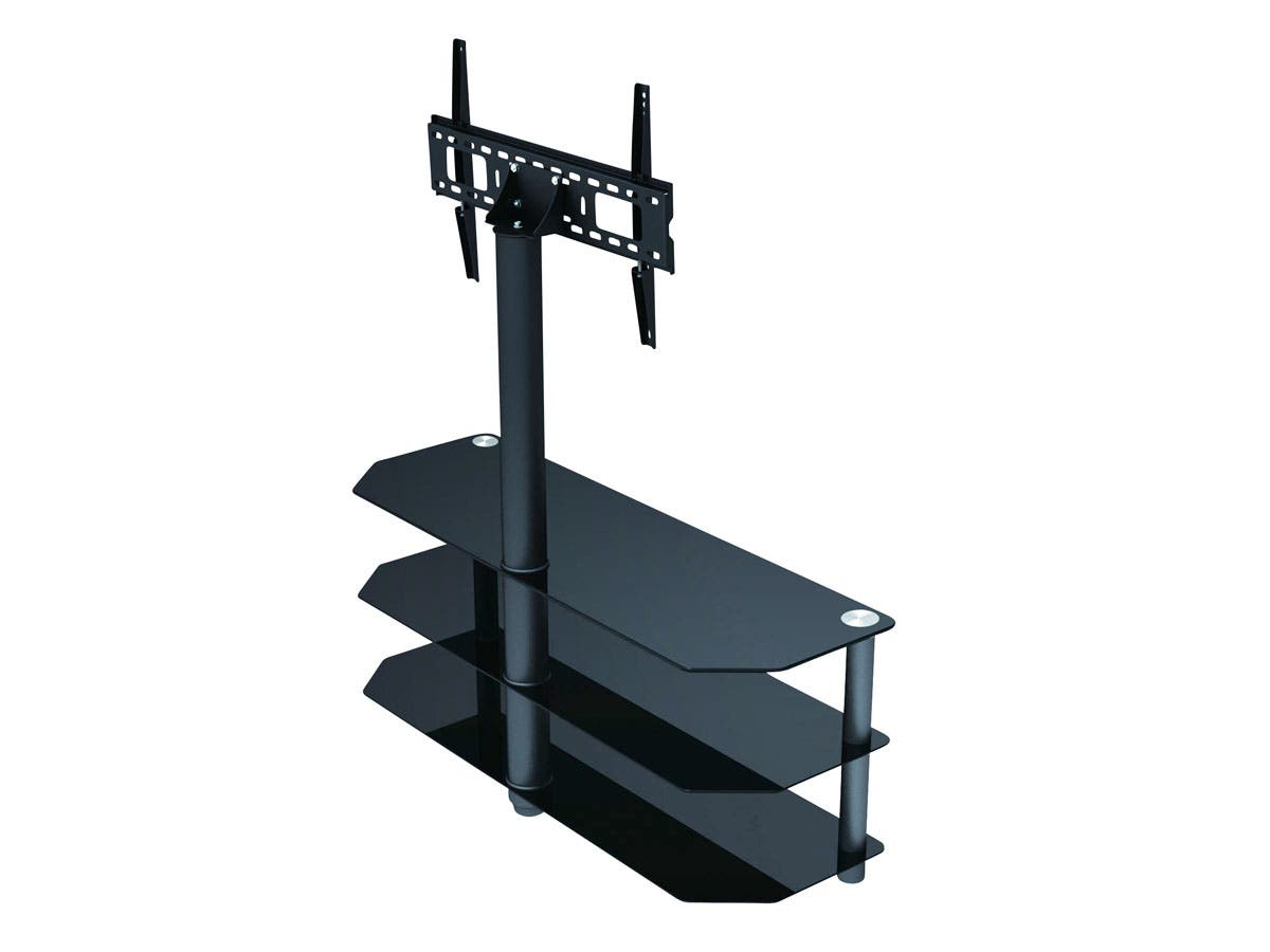 high quality tv stand with mount for flat panel tvs up to. Black Bedroom Furniture Sets. Home Design Ideas