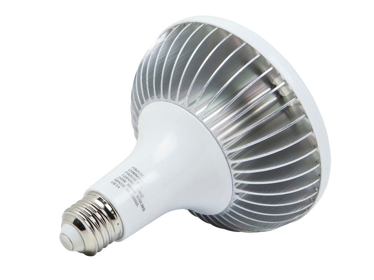 20 watt 100w equivalent par 38 led bulb 920 lumens warm soft 3000k dimmable. Black Bedroom Furniture Sets. Home Design Ideas