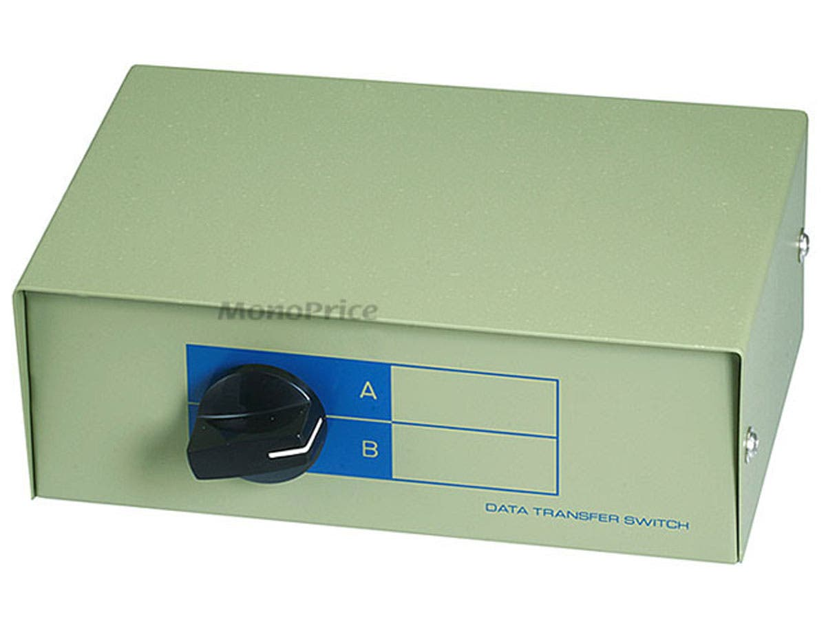 Large Product Image for RJ11 / RJ12 AB 6P6C 2Way, Switch Box