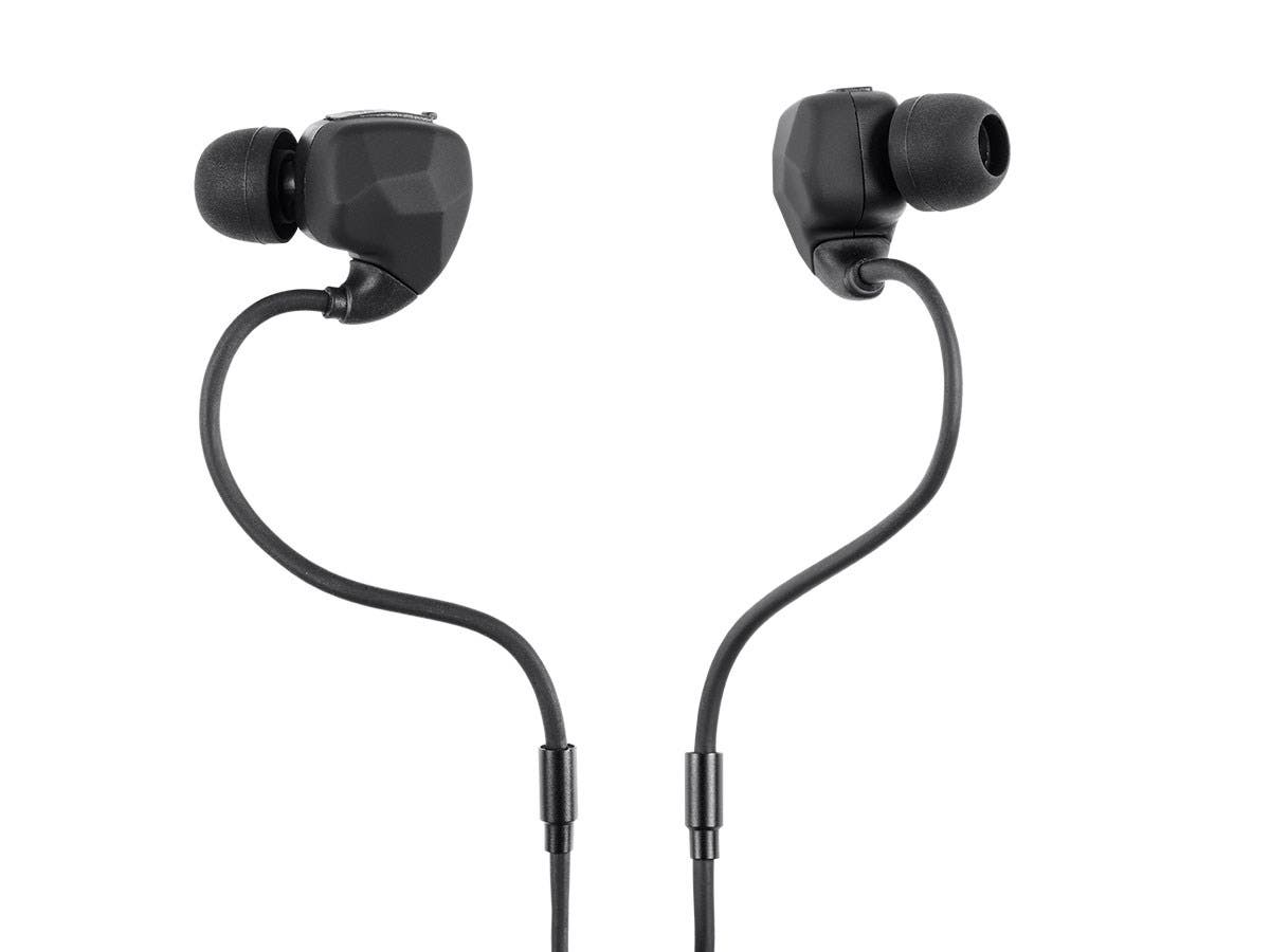 sweatproof bluetooth earphones with memory wire mic. Black Bedroom Furniture Sets. Home Design Ideas
