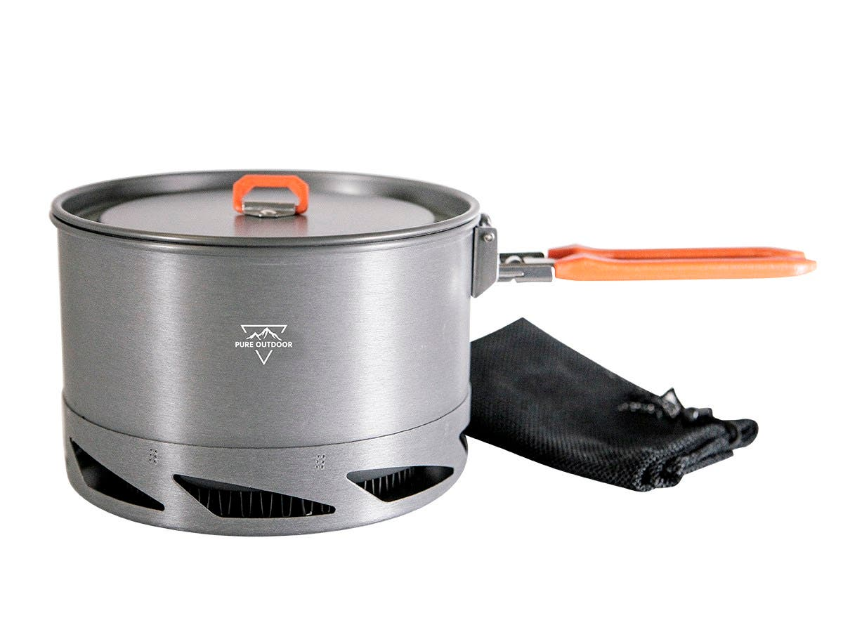 pure outdoor vortex 1 5 liter pot boiler camping trekking backpacking. Black Bedroom Furniture Sets. Home Design Ideas