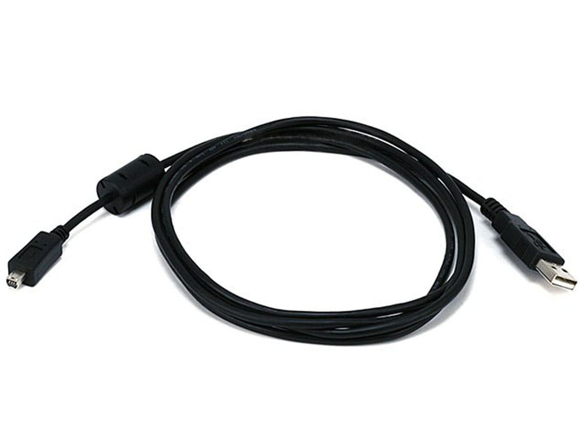 Large Product Image for 6ft A to Mini-B 8pin USB Cable w/ ferrites for Nikon Coolpix 775 and Olympus D40,C40