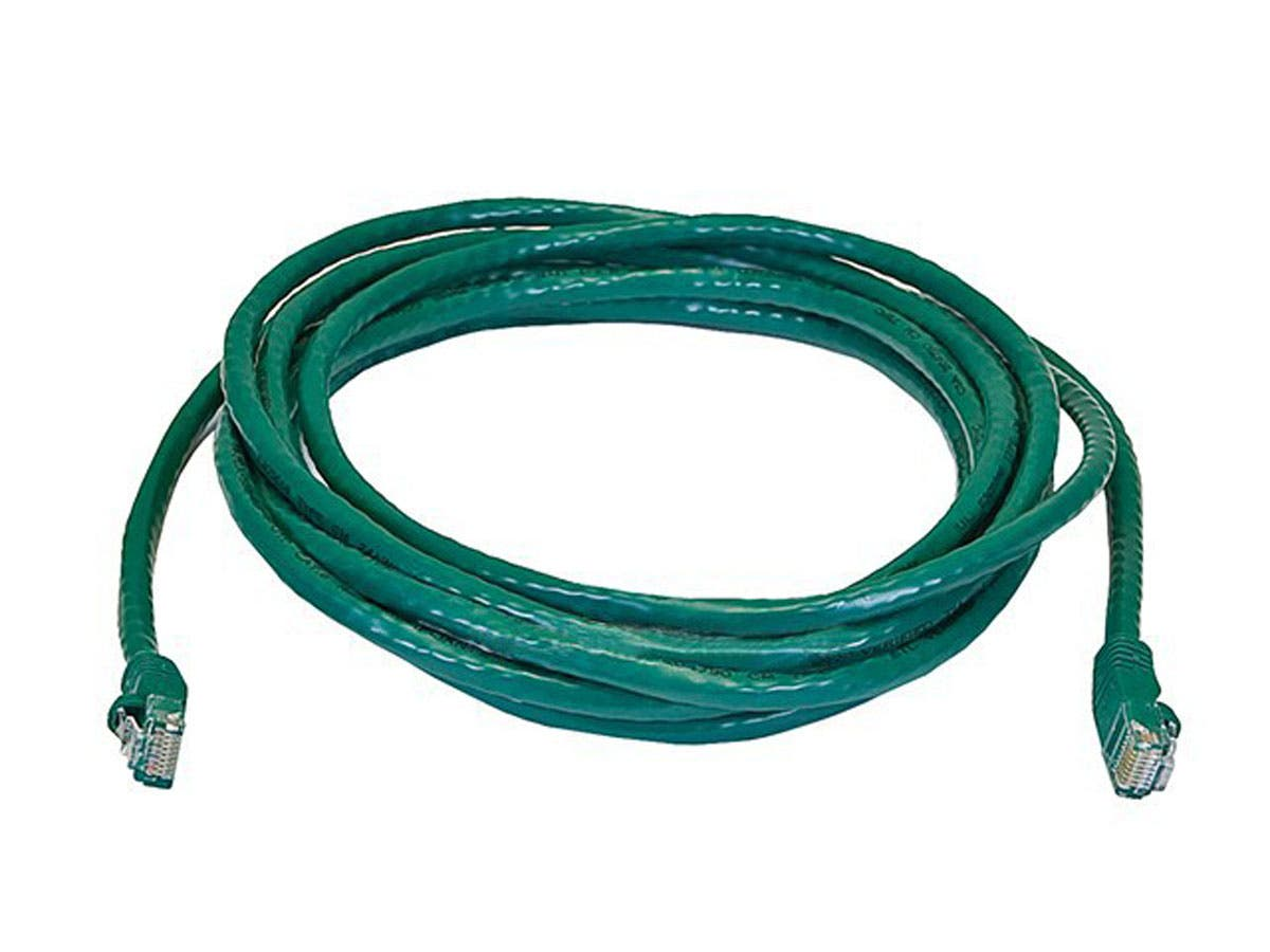 Large Product Image for 14FT 24AWG Cat5e 350MHz UTP Bare Copper Ethernet Network Cable - Green 
