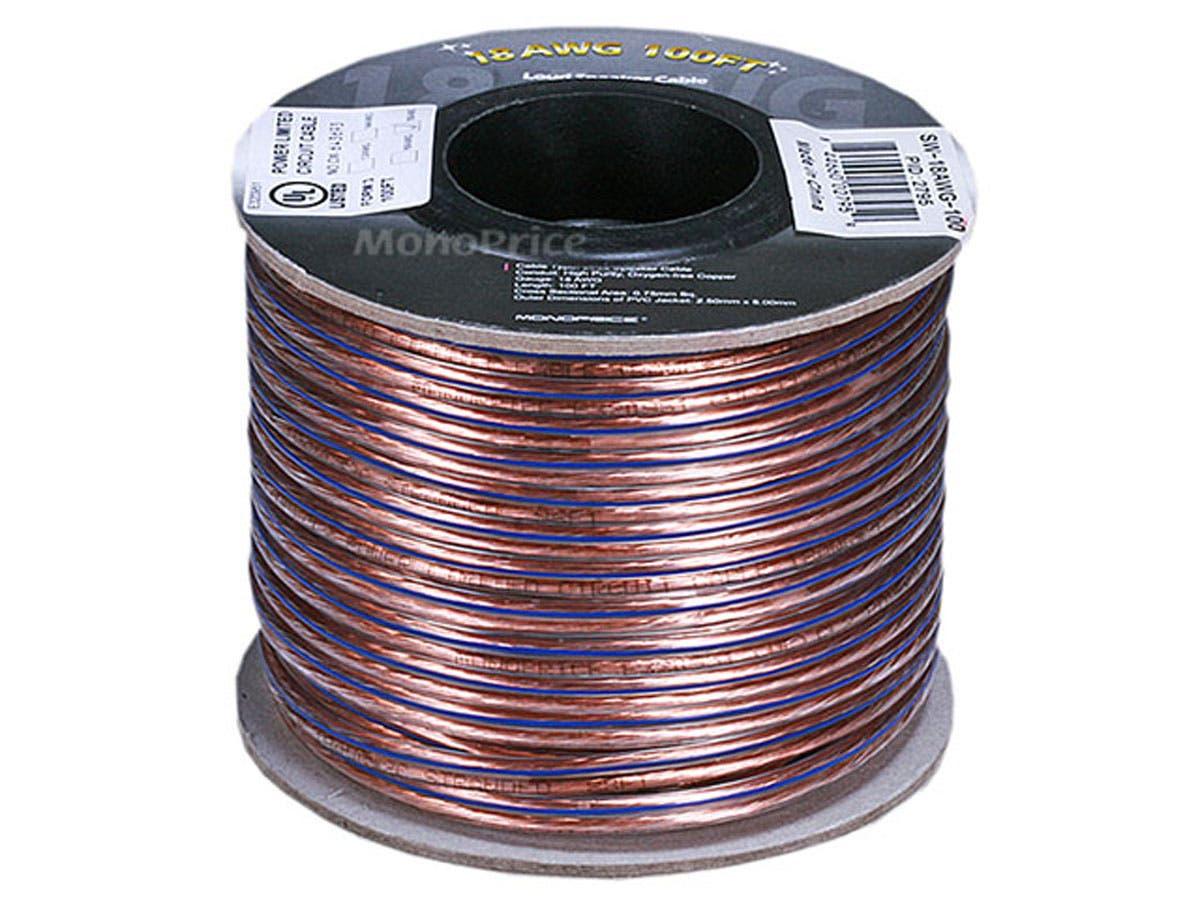 Bare Copper Wire Rope : Ft awg oxygen free pure bare copper speaker wire