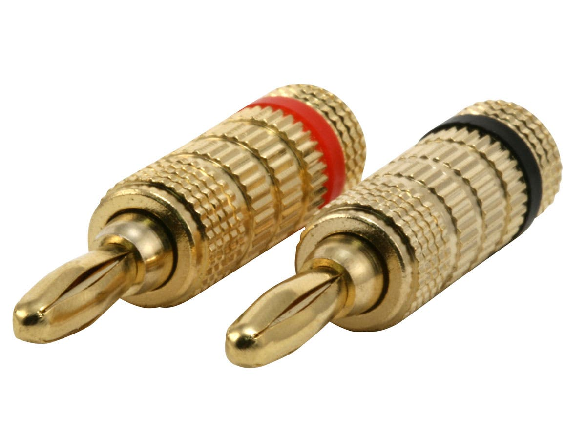 Large Product Image for 1 PAIR OF High-Quality Copper Speaker Banana Plugs - Closed Screw Type [JX-74043] 
