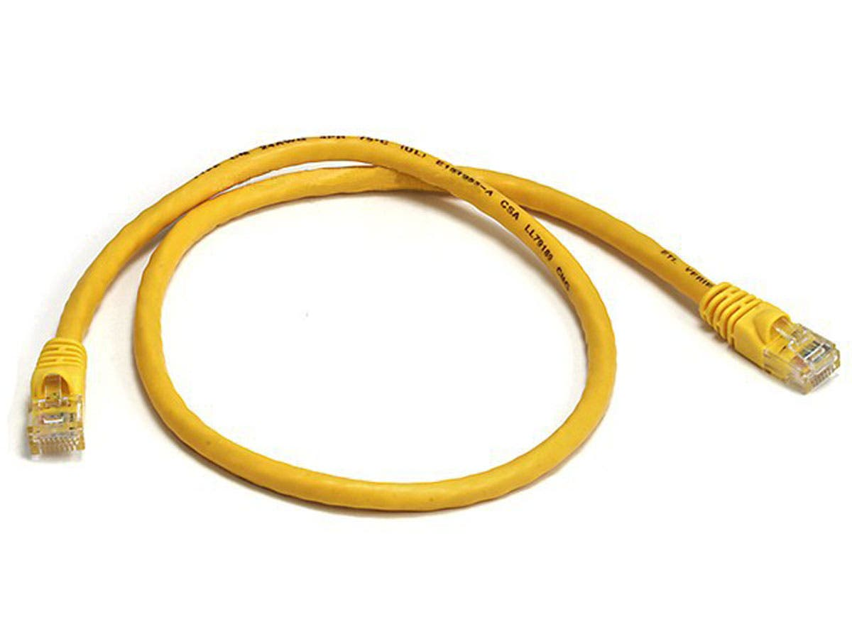 Cat5e 24awg Utp Ethernet Network Patch Cable 2ft Yellow