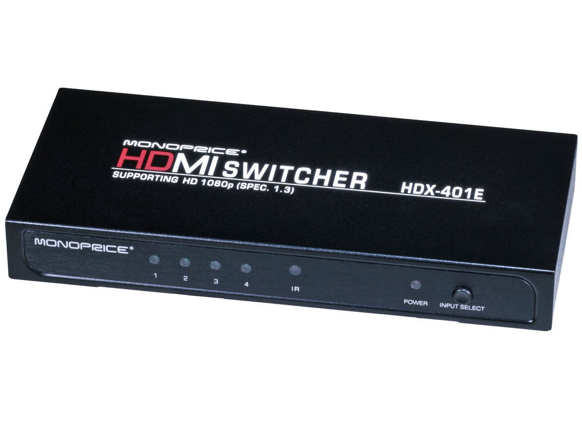 Large Product Image for 4X1 Enhanced HDMI Switch w/ Built-In Equalizer & Remote (REV.3.0) 