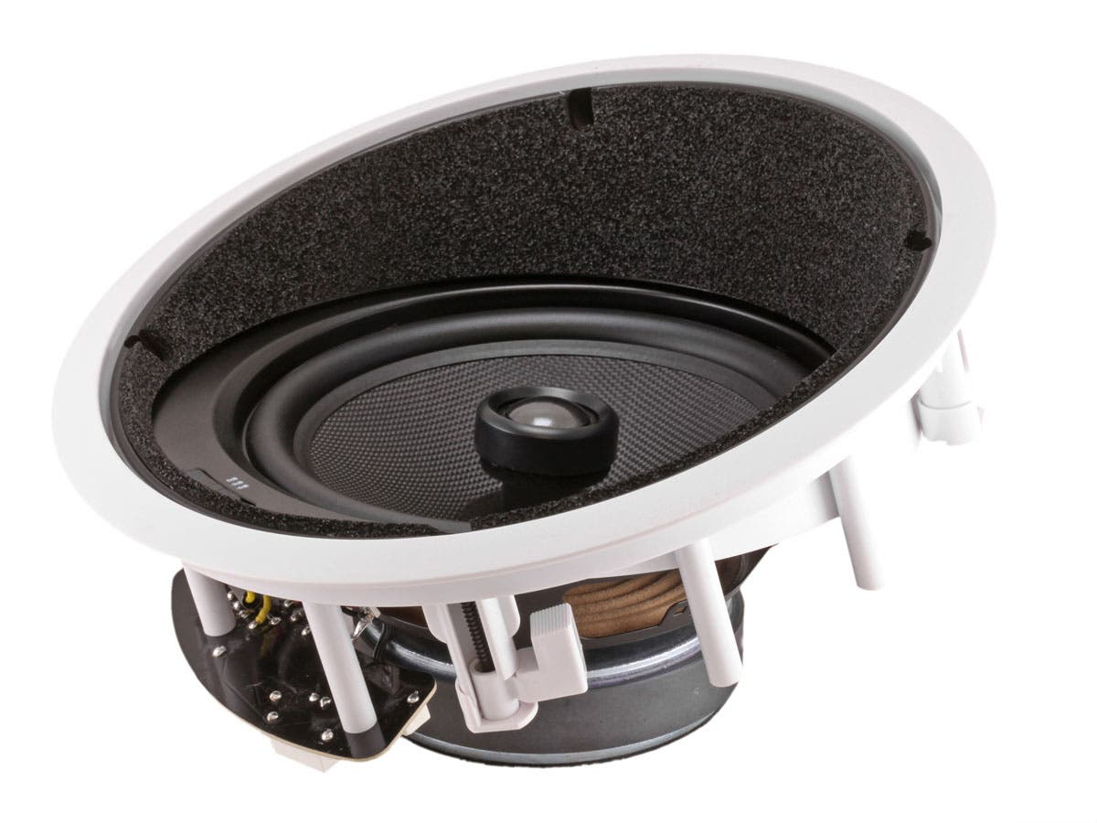 Caliber In Ceiling Speakers 8 Inch Fiber 2-Way with 15 ...