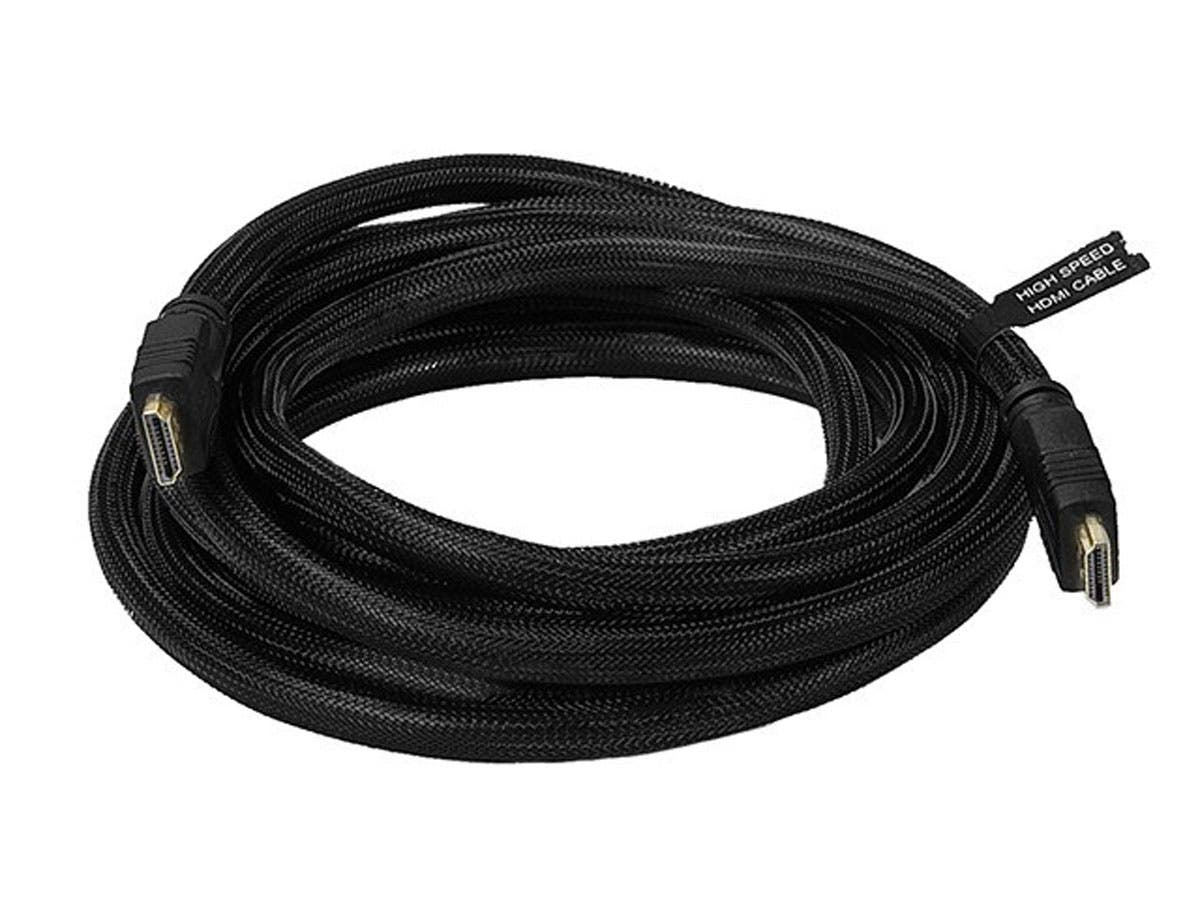 Large Product Image for 12ft 24AWG CL2 High Speed HDMI® Cable w/ Net Jacket - Black