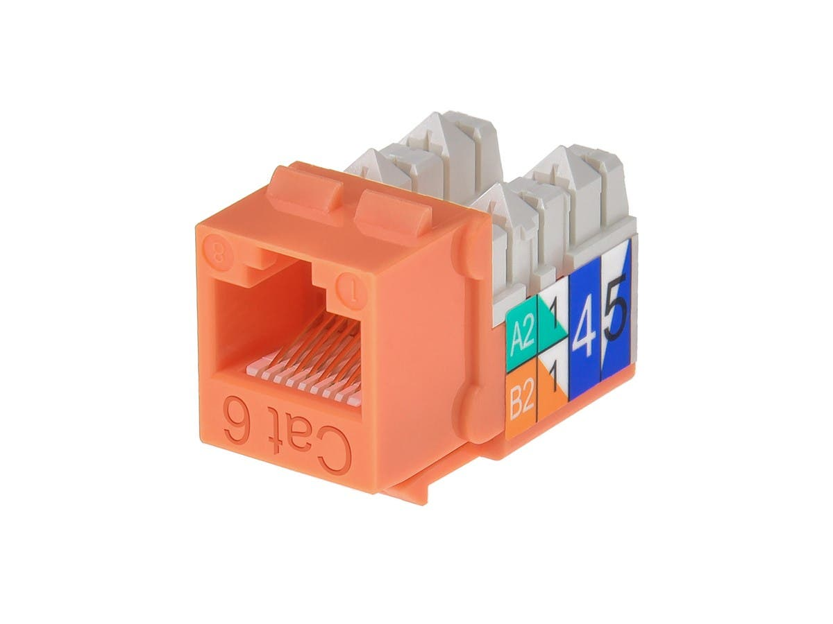 Large Product Image for Cat6 Punch Down Keystone Jack - Orange
