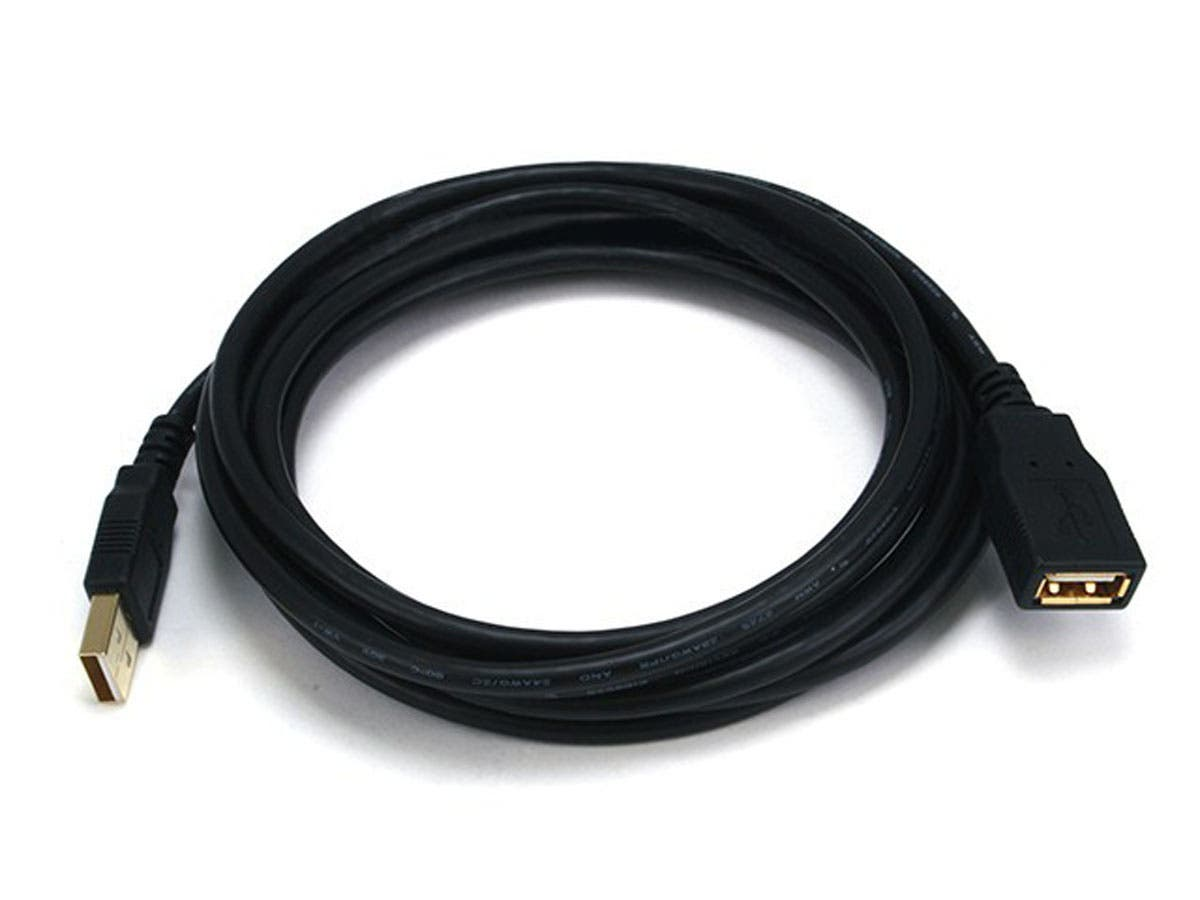 Large Product Image for 10ft USB 2.0 A Male to A Female Extension 28/24AWG Cable (Gold Plated)