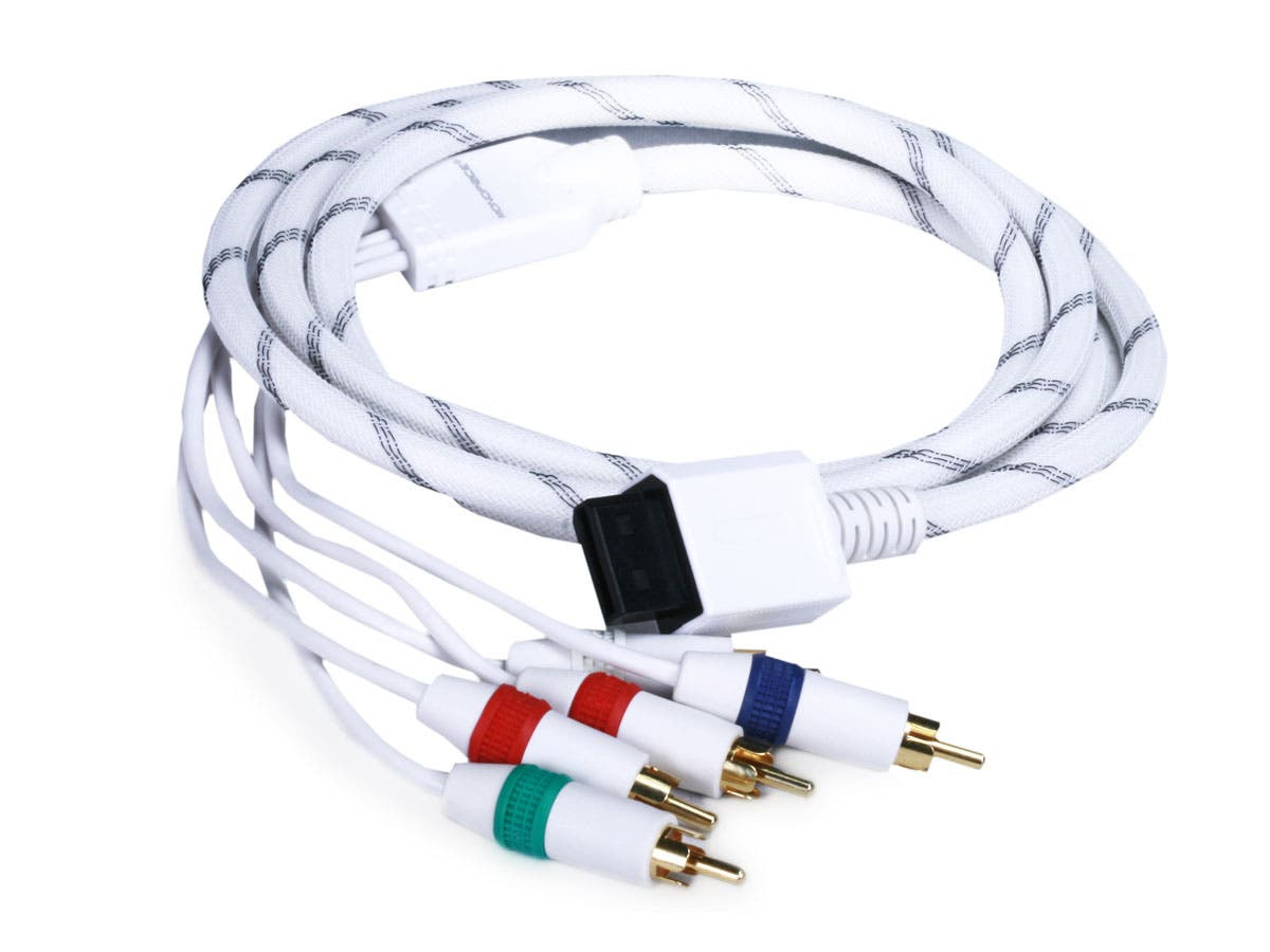 Large Product Image for 6FT Audio Video ED Component Cable for Wii & Wii U - White (Net Jacket)
