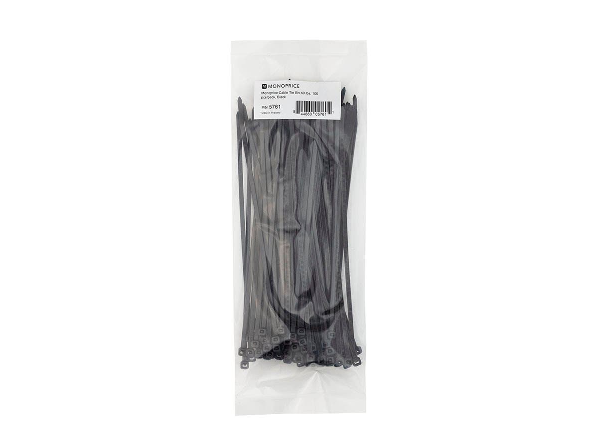 Large Product Image for Cable Tie 8 inch 40LBS, 100pcs/Pack - Black