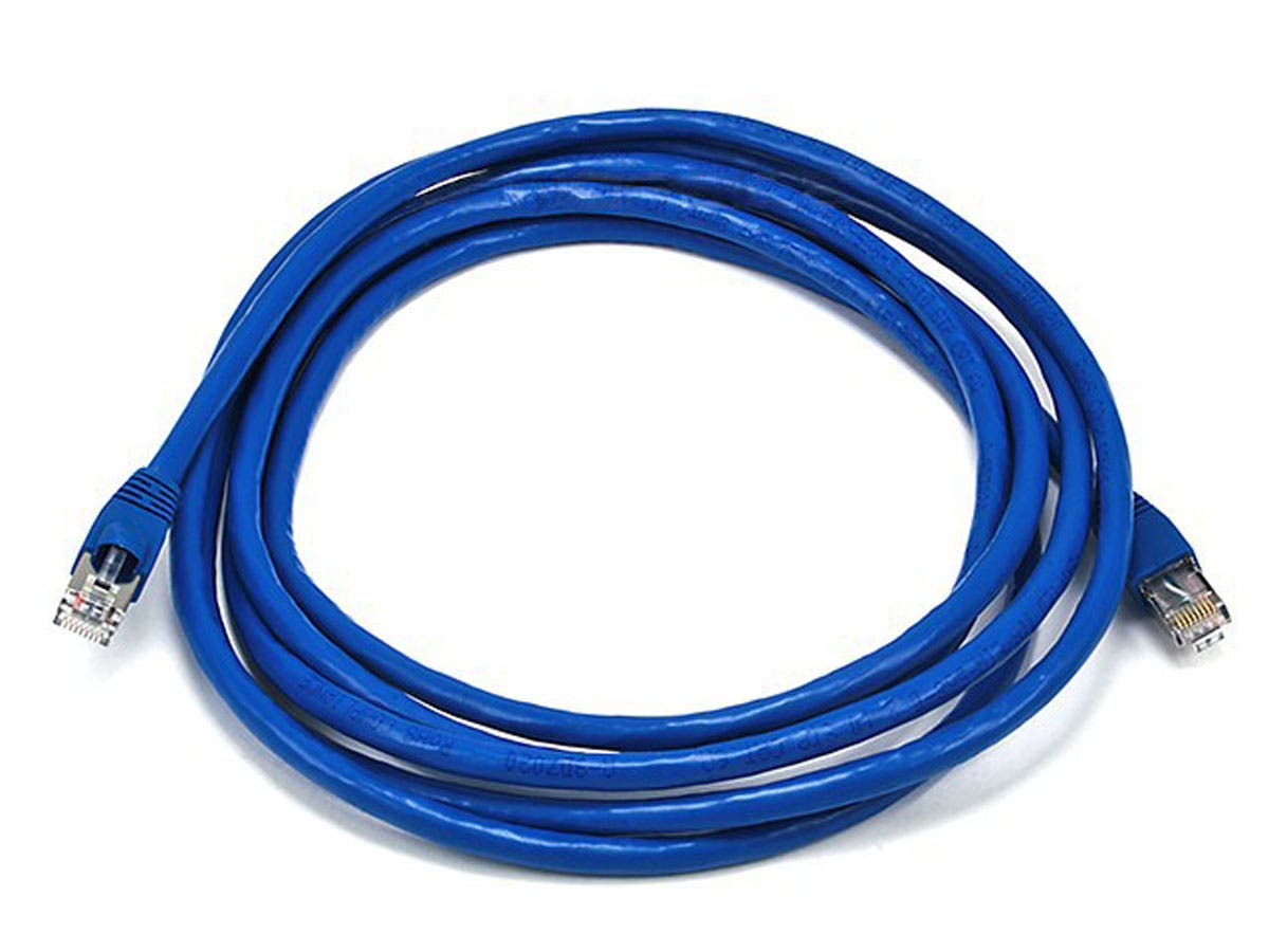 Large Product Image for 10FT 24AWG Cat6A 500MHz STP Ethernet Bare Copper Network Cable - Blue