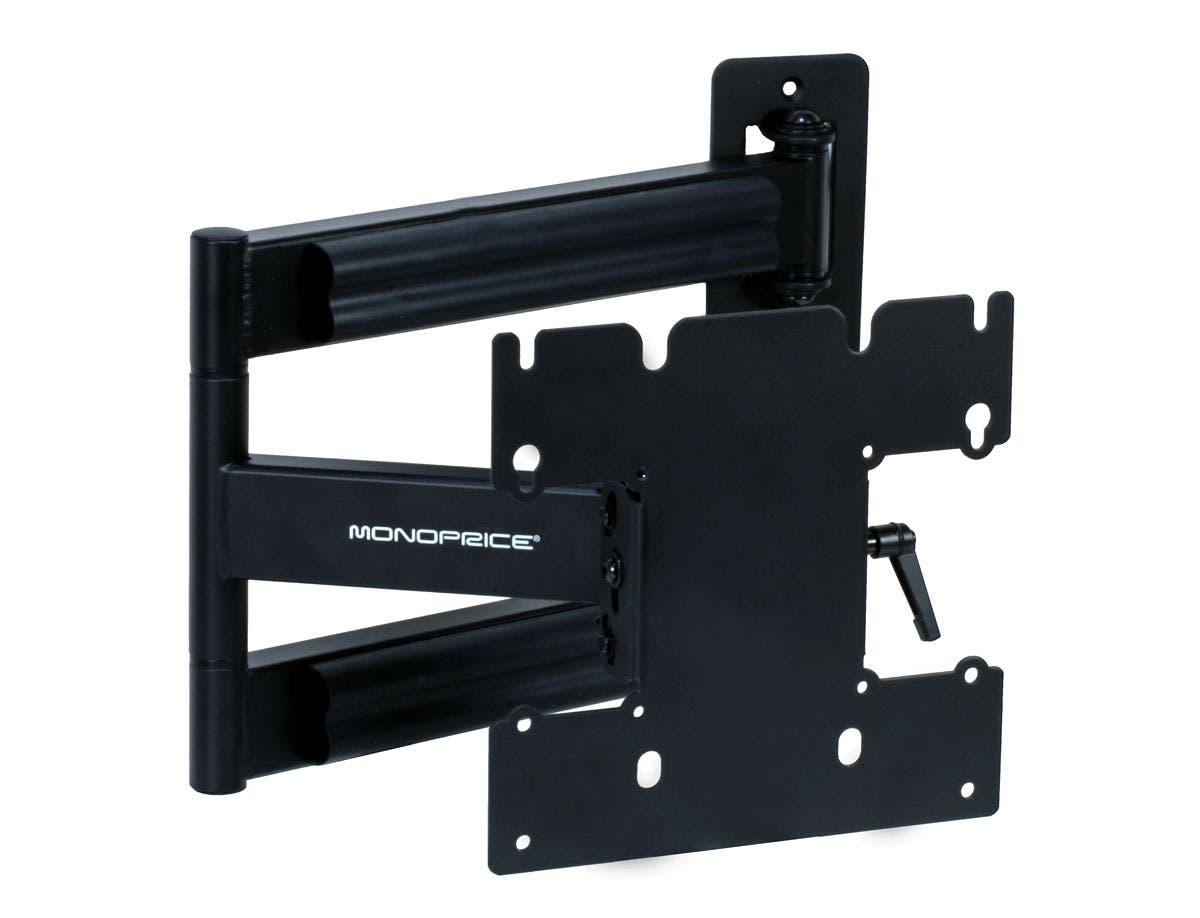 Monoprice Adjustable Tilting/Swiveling TV Wall Mount Bracket for LCD LED Plasma Corner Friendly (Max 80Lbs, 23~40inch)