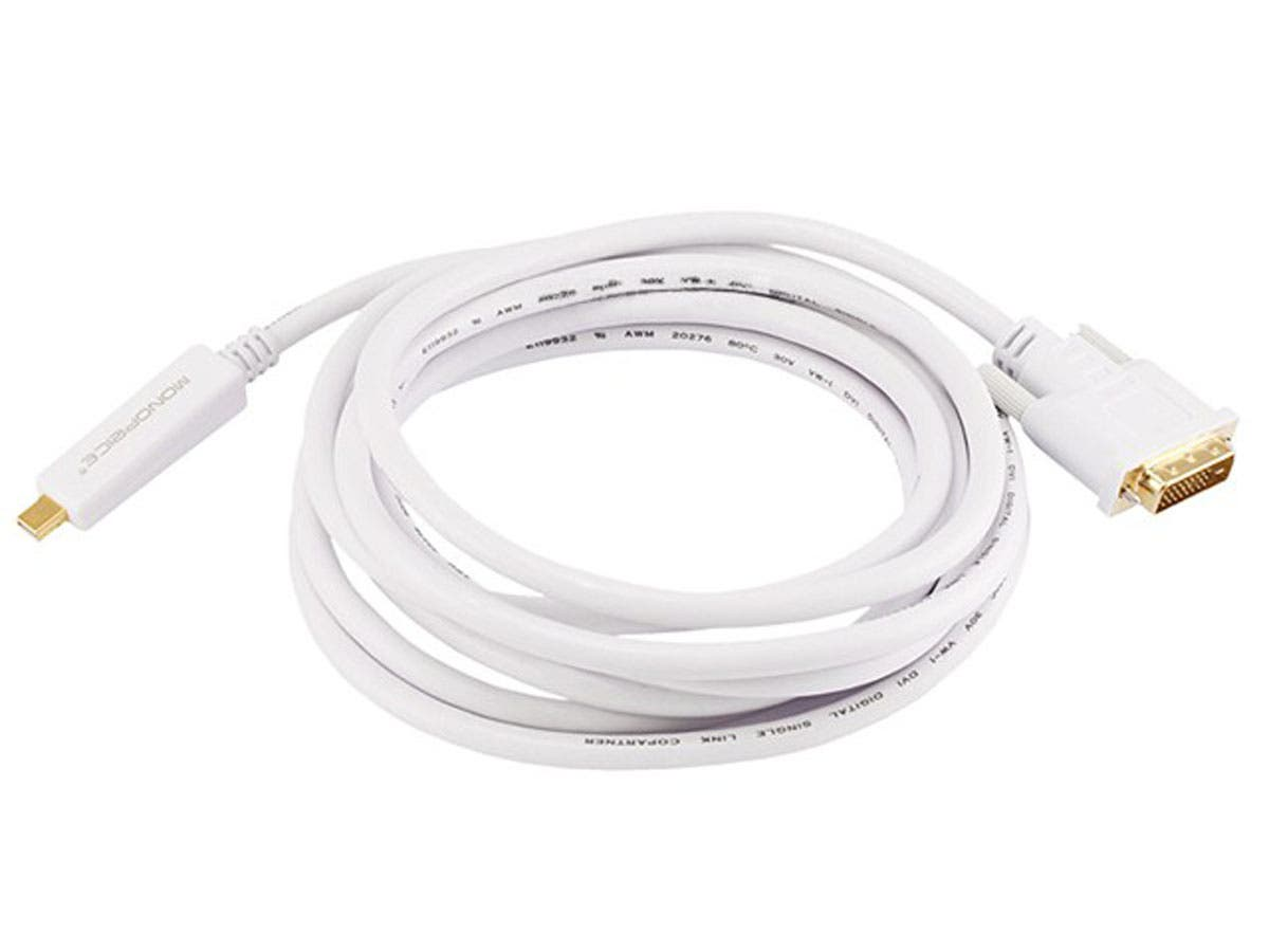 Large Product Image for 10ft 32AWG Mini DisplayPort to DVI Cable - White