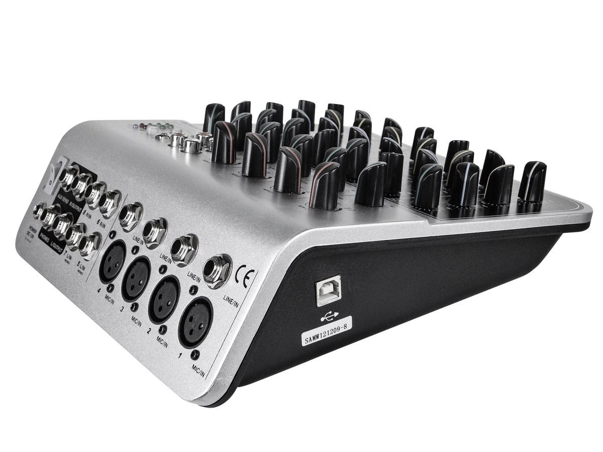 8 Channel Audio Mixer With Usb Monoprice Com