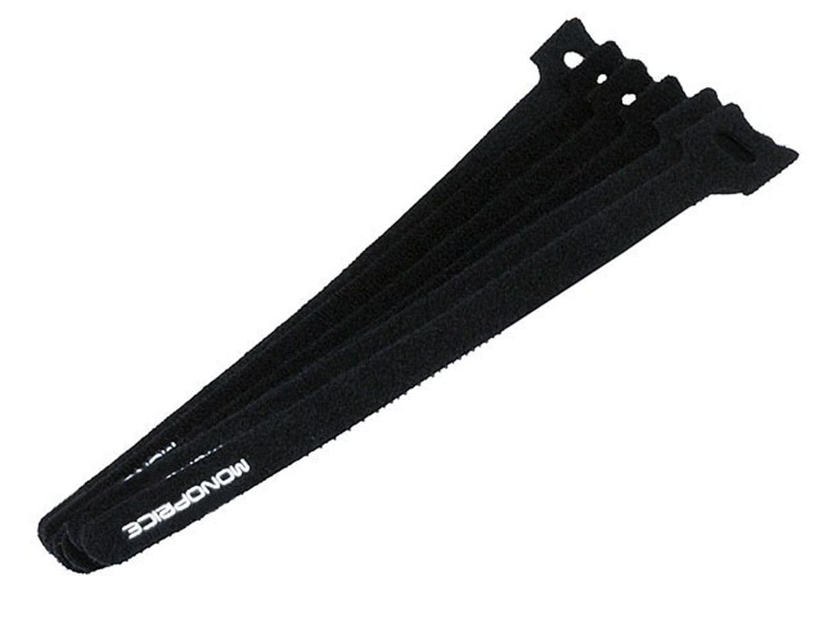 Large Product Image for Hook & Loop Fastening Cable Ties, 9-inch, 100pcs/pack, Black