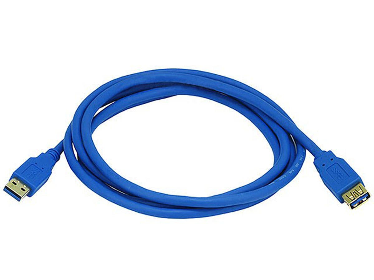 Large Product Image for 6ft USB 3.0 A Male to A Female Extension 28/24AWG Cable (Gold Plated)