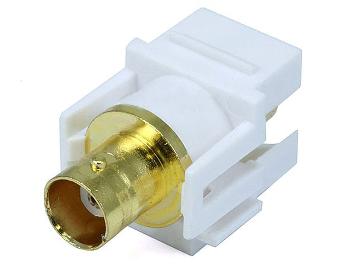 Large Product Image for Keystone Jack - Modular BNC (White)