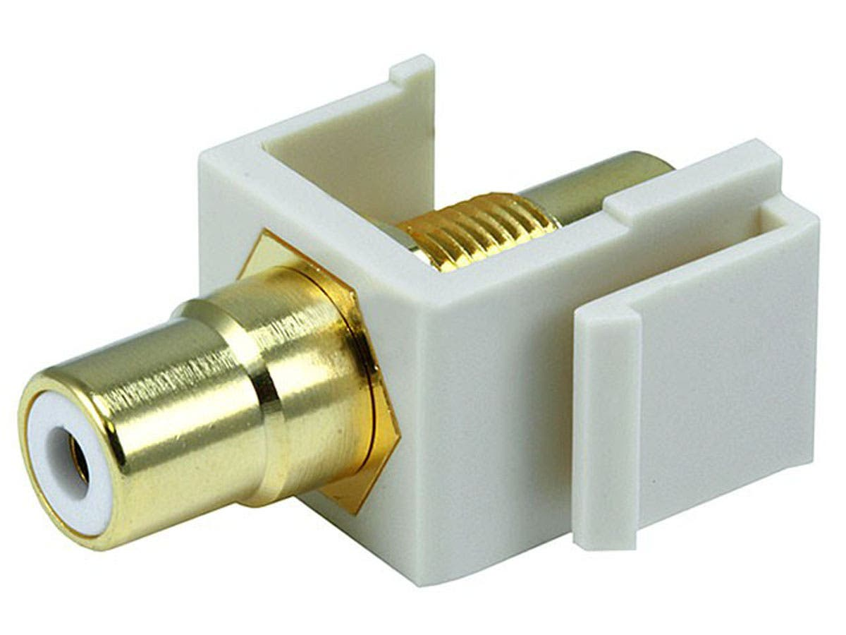 Large Product Image for Keystone Jack - Modular RCA w/White Center (Ivory)