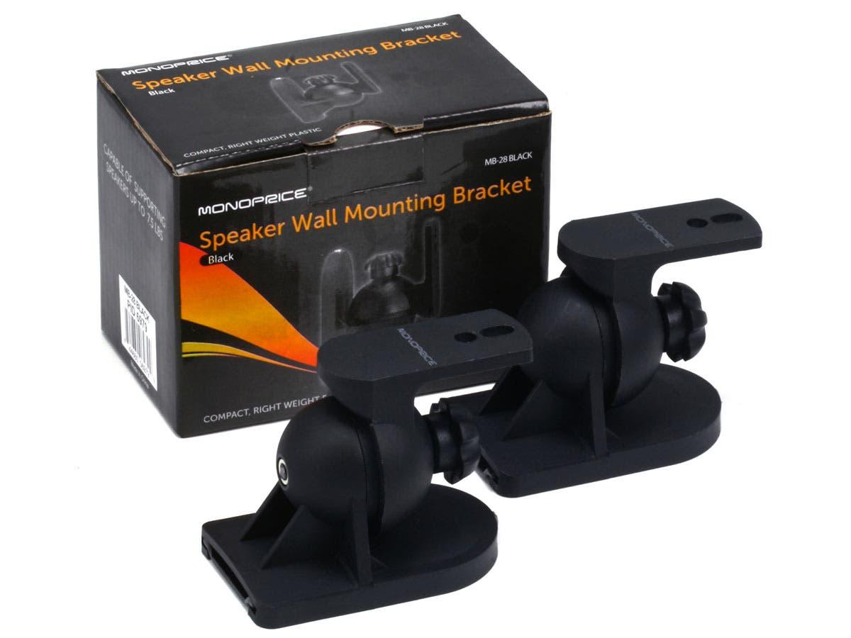 Low Profile 7 5 Lb Capacity Speaker Wall Mount Brackets