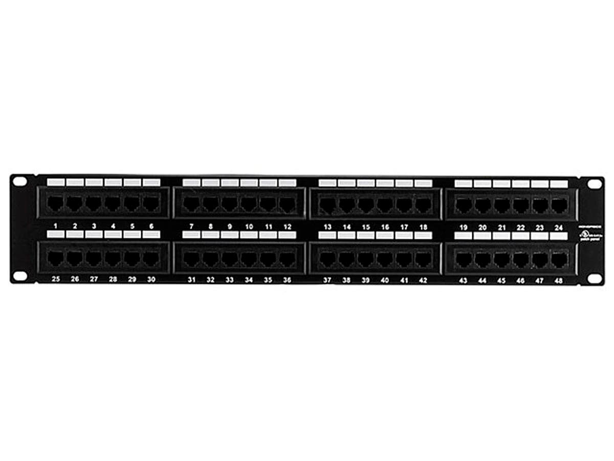 AMP 48 Port Multimedia, SL Series, Flush Patch Panel