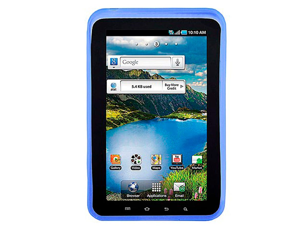 Large Product Image for Silicone Case with Fingerprint Pattern for 7 inch Galaxy Tab - Blue