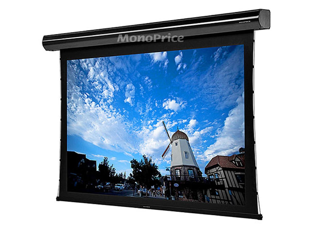 106 Inch 16 9 Hd White Fabric Tab Tensioned Motorized
