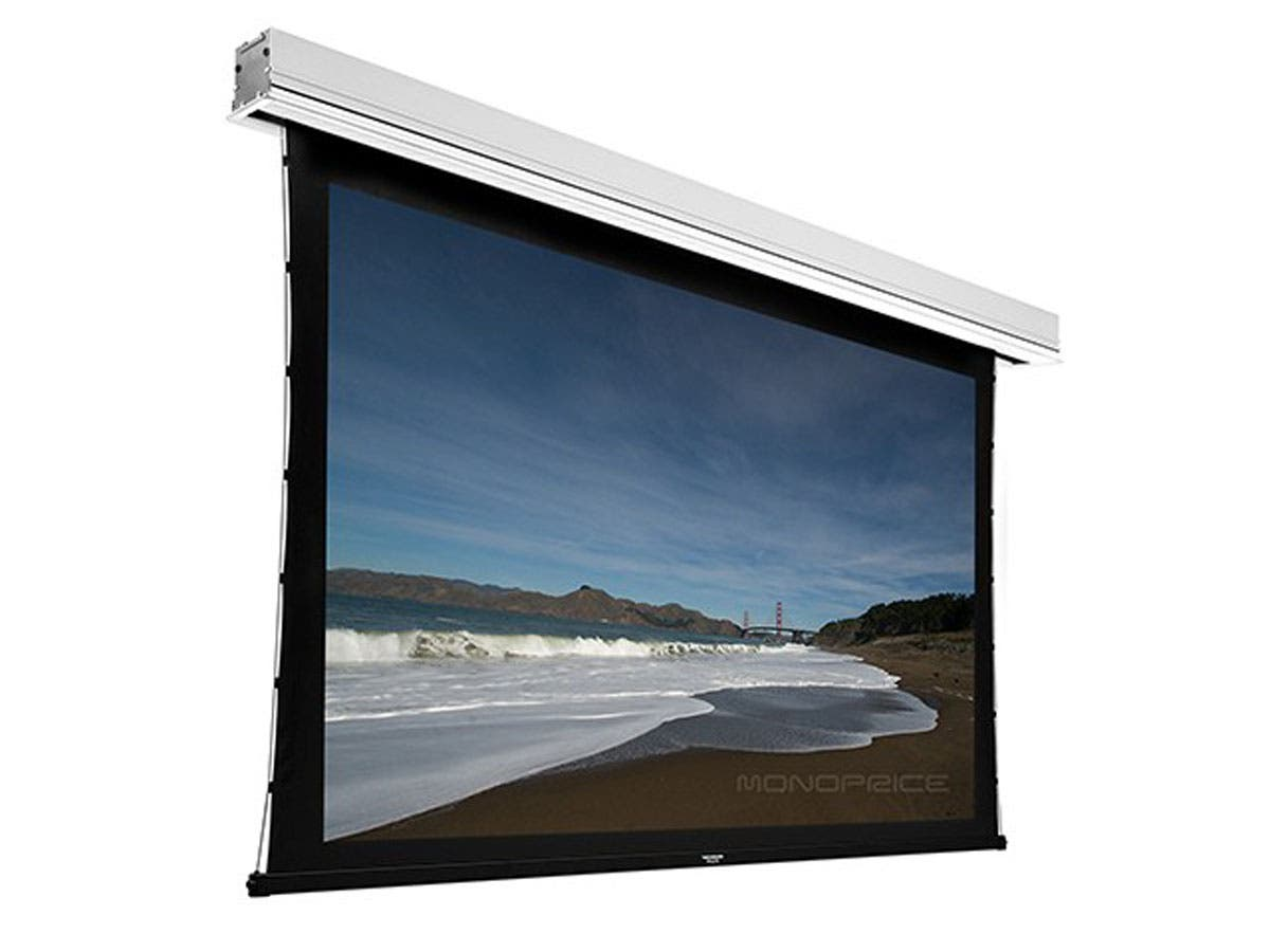 133 inch 16 9 hd white fabric ceiling recessed tab for 130 inch motorized projector screen