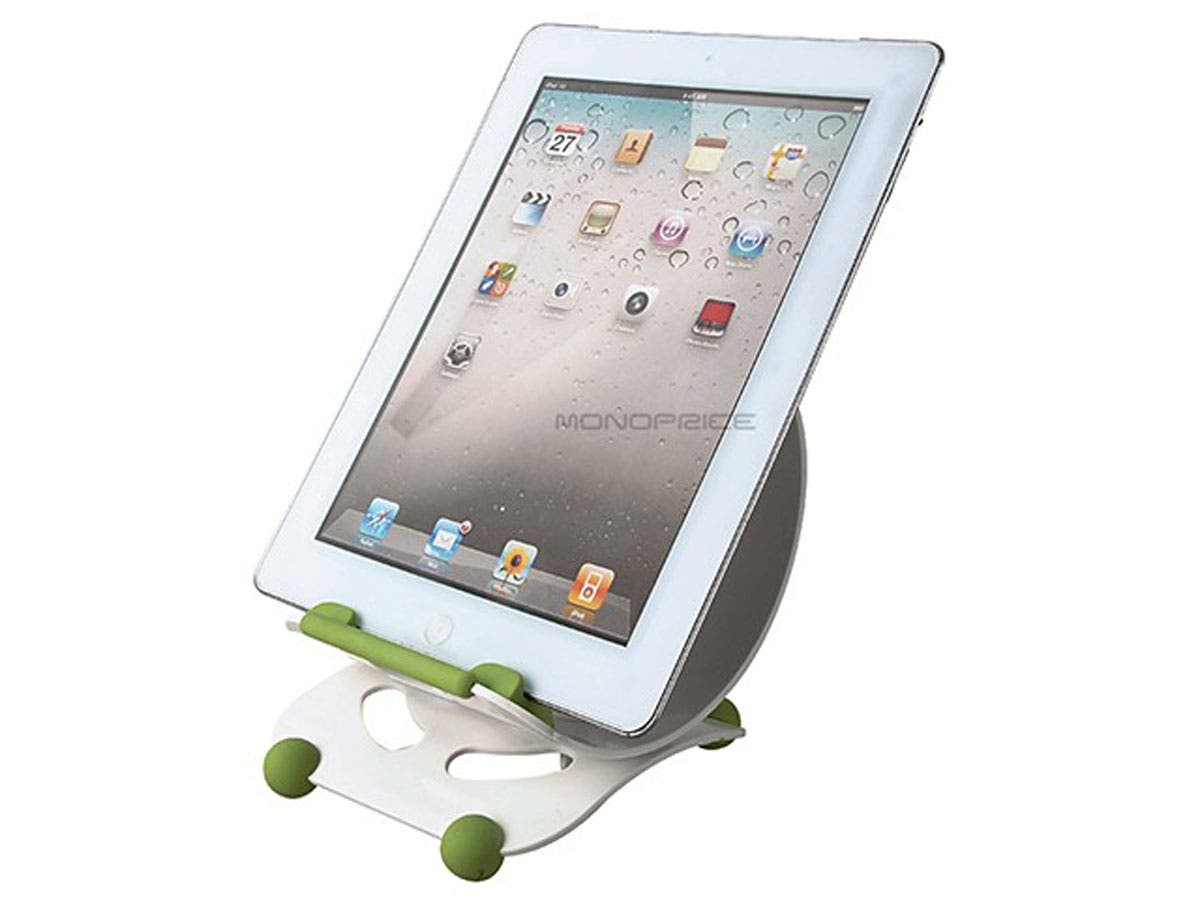 Large Product Image for Angle Adjustable Desktop Stand for all 9.7-inch iPad� and Tablets - White