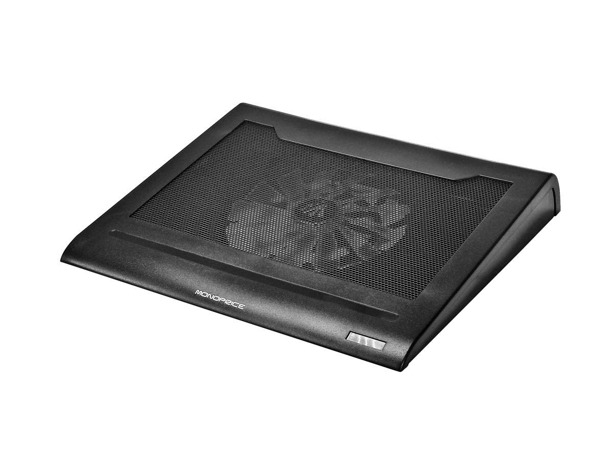 Portable Fan Stands : Lightweight portable metal mesh laptop cooling stand w