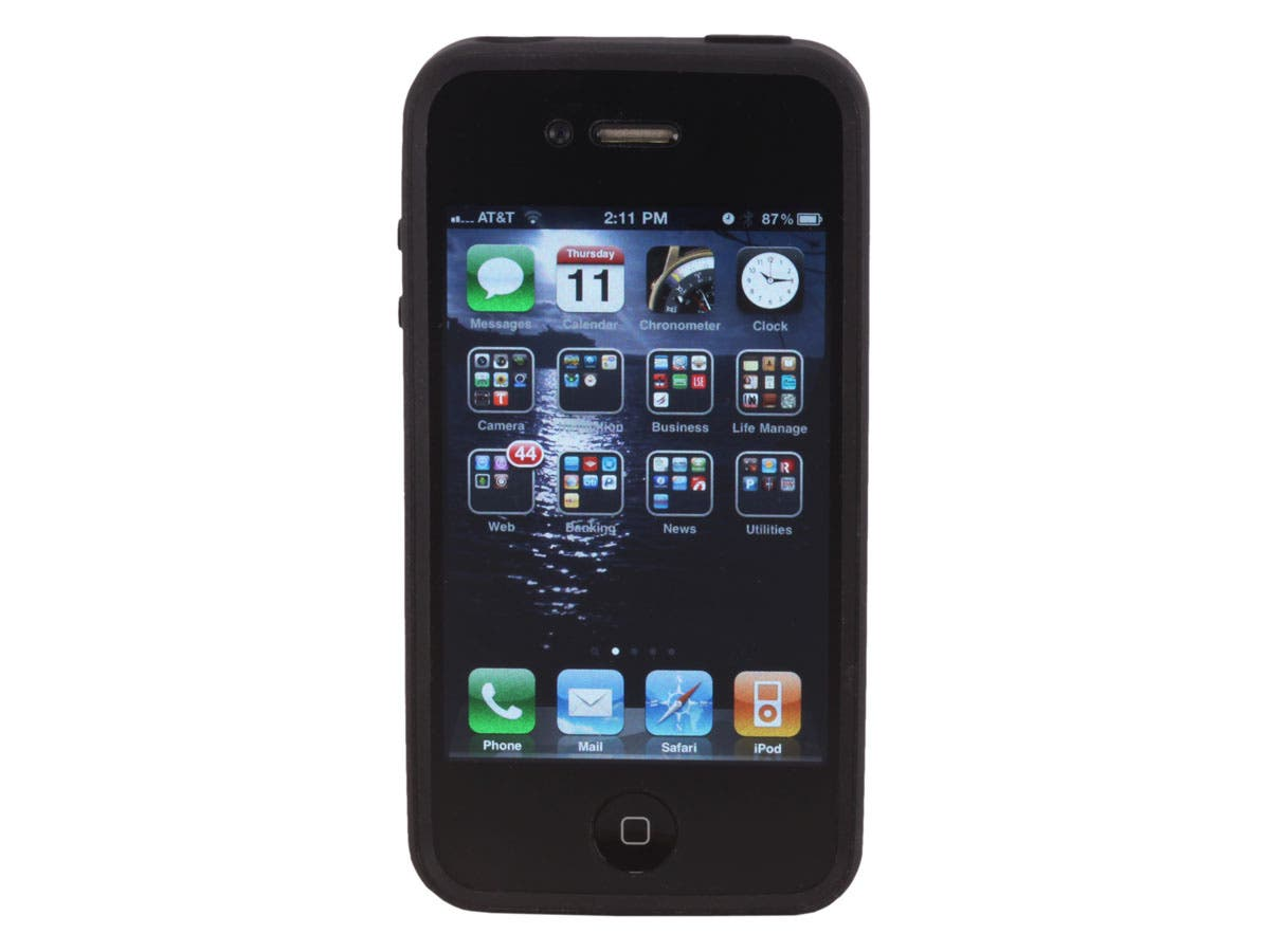 Large Product Image for Black iPhone� 4/4S Bumper with Clear Polycarbonate Case