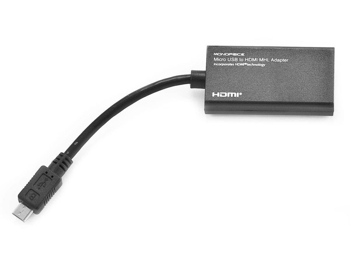 Large Product Image for Micro USB to HDMI® MHL Adapter - Black