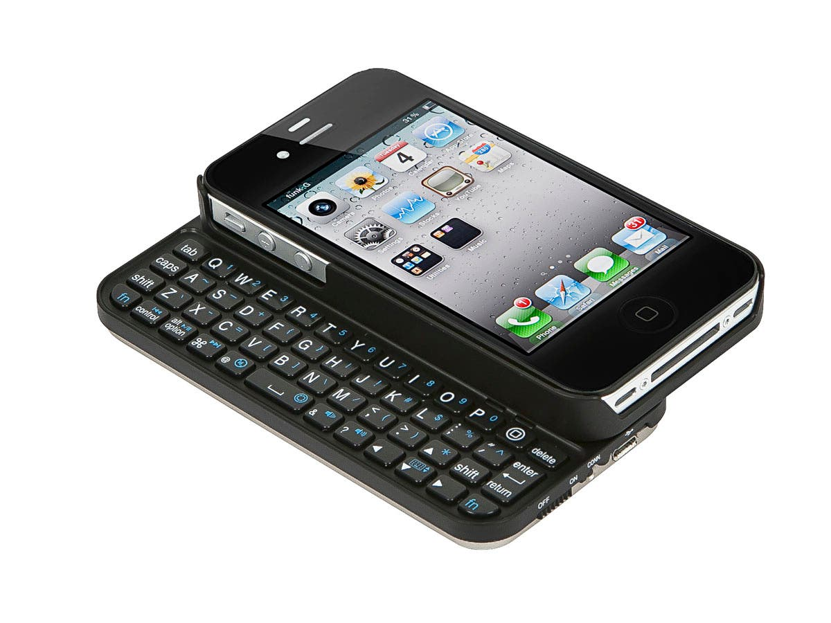 Large Product Image for Bluetooth� Pocket Keyboard Case for iPhone 4/ 4S - Black