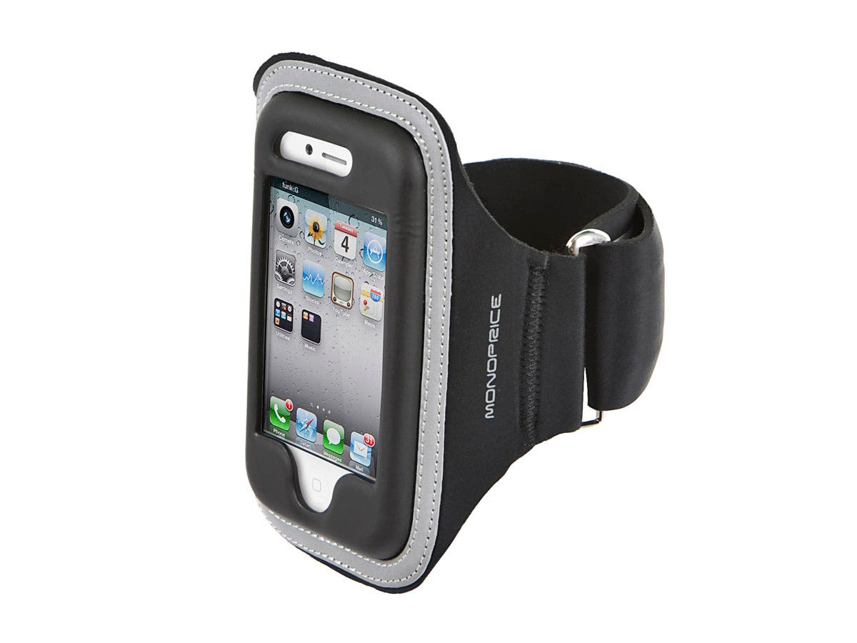 Large Product Image for Neoprene Sports Armband for iPhone 4/ 4S - Black