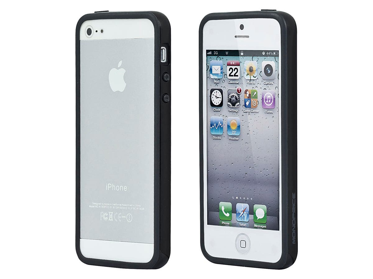 Large Product Image for PC+TPU Edge Bumper for <font color=red>iPhone 5</font> - Black