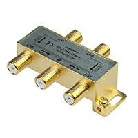 Product Image for PREMIUM 4 way Coax Cable Splitter F type Screw - 5~2400 MHz (for Video VCR Cable TV antenna)