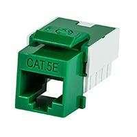 Product Image for Slim Cat5E Punch Down Keystone Jack - Green
