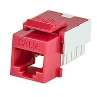 Product Image for Slim Cat5E Punch Down Keystone Jack - Red
