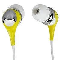 Enhanced Bass Earphones with Built-in Microphone and Play/Pause Controls - Yellow