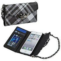 Plaid Clutch for iPhone® 5/5s - Black
