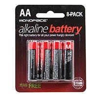 Product Image for Monoprice Alkaline Battery AA 8-Pack