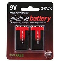 Product Image for Monoprice Alkaline 9V Battery 2-Pack