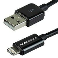 3ft MFi Certified Lightning™ to USB Charge/ Sync Cable for iPad®, iPhone®, and iPod® - Black