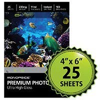 MPI 4x6 Premium Photo Paper- Ultra High Gloss (25 sheets)